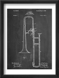 Slide Trombone Instrument Patent Prints