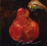 Red Pear Print by Nicole Etienne