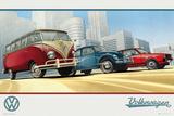 VW Camper Illustration Foto van WORLDWIDE