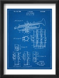 Trumpet Instrument Patent Plakat