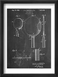 Ping Pong Paddle Patent Print