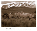 Horses Running I Posters par Robert Dawson