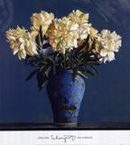 Bleu porcelaine Affiches par Ben Schonzeit