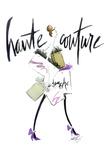 Haute Couture Purple Poster di Alicia Zyburt
