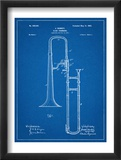 Slide Trombone Instrument Patent Láminas