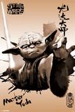 Star Wars- Yoda Sumi-E Pôsters