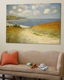 Strandweg zwischen Weizenfeldern bei Pourville, 1882 Poster von Claude Monet