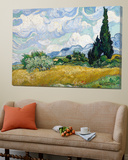 Wheat Field with Cypresses Posters av Vincent van Gogh