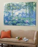Waterlilies, 1916-19 Posters av Claude Monet