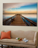 Sunrise on the Pier at Terre Ceia Bay, Florida, USA Kunstdrucke von Richard Duval