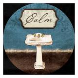 Calm Sink Round Poster af Jace Grey
