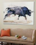 Charging Bull, 1998 Posters av Mark Adlington