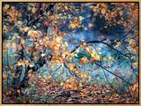 Yellow Heart Ingelijste canvasdruk van Ursula Abresch