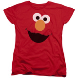 Womens: Sesame Street- Big Elmo Face T-shirts