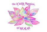 Tie Dye Lotus Passion Poster di Pam Varacek