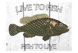 Live To Fish Arte por Sheldon Lewis