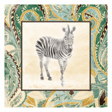 Floral Sea Zebra Posters by Jace Grey