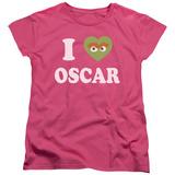 Womens: Sesame Street- I Heart Oscar T-shirts