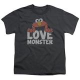Youth: Sesame Street- Elmo Love Monster T-Shirt