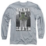 Long Sleeve: Sesame Street- Oscar Talkin Trash Long Sleeves