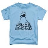 Toddler: Sesame Street- Vintage Cookie Monster Shirt