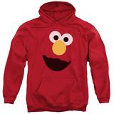 Hoodie: Sesame Street- Big Elmo Face Pullover Hoodie