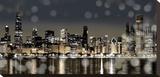 Chicago Nights I Opspændt lærredstryk af Kate Carrigan