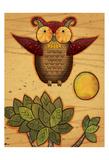 Texture Owls 04 Prints by Melody Hogan