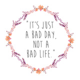 Floral Bad Day Print by Victoria Brown