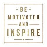 Motivate Gold Two Kunstdrucke von Jace Grey