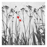 Crimson Ink Plants Prints by Alonzo Saunders