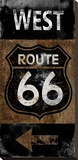 Route 66 West Stretched Canvas Print by Luke Wilson