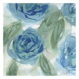 Blue Green Roses I Posters av Beverly Dyer