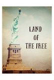 Land of The Free Stampe di Ashley Davis