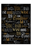 Bath Typography Gold Poster di Jace Grey