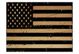 Gold And Black America Poster von Sheldon Lewis