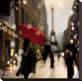 A Paris Stroll Opspændt lærredstryk af Kate Carrigan