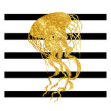 Golden Jelly Fish Pôsters por Sheldon Lewis