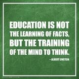 Albert Einstein- Education Explained Posters