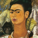 Kahlo- Self-Portrait With Monkey, C.1938 Plakater af Frida Kahlo