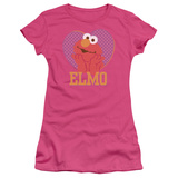 Juniors: Sesame Street- Big Heart Elmo T-Shirt