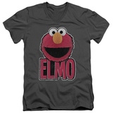 Sesame Street- Big Smile Elmo V-Neck V-Necks
