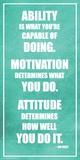 Lou Holtz- Ability Motivation Attitude Posters