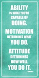 Lou Holtz- Ability Motivation Attitude ポスター