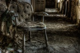 Haunted Interior with Chair Fotografisk tryk af Nathan Wright