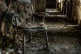 Haunted Interior with Chair Fotografie-Druck von Nathan Wright