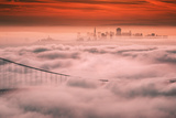 Sweet Fog City, Golden Gate Bridge, San Francisco Bay Area Sunrise Photographic Print by Vincent James