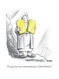 """I've got my own commandments, Little Yahweh."" - New Yorker Cartoon Premium Giclee Print by Benjamin Schwartz"