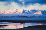 Mellow Misty Morning at Continental Divide, Yellowstone National Park, Wyoming Fotografie-Druck von Vincent James