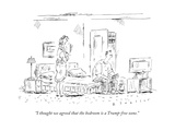 """I thought we agreed that the bedroom is a Trump-free zone."" - New Yorker Cartoon Premium Giclee Print by Barbara Smaller"